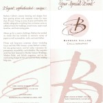 Barbara Callow Calligraphy brochure